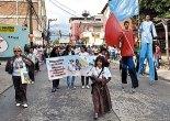 Niños, niñas y adolescentes fueron aplaudidos y admirados al recorrer las calles de la ciudad rezando el Rosario Misionero.