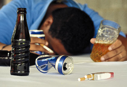 Con umorismo su alcolismo