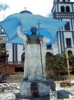 El monumento se podrá apreciar en la parte frontal del Santuario de Suyapa.