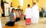 Bendición a los futuros ministros de la Eucaristía.
