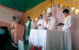 Misa que fue presidida por monseñor Darwin Rudy Andino,  Obispo de la Diócesis de Santa Rosa de Copán.