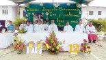 Padre Patricio, celebró la Eucaristía como muestra de agradecimiento por un año mas de servicio a los  necesitados.