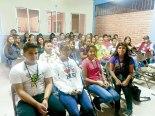 Jóvenes de diferentes comunidades que forman el MFC. Reciben taller de capacitación.