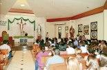 La ceremonia inicio con una misa de Acción de Gracias.