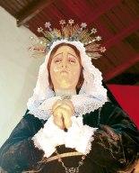 Esta es la Dolorosa, de la Iglesia El Calvario de Tegucigalpa.