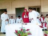 Misa presidida por Monseñor Guido Charbonneau, dando gracias por los 45 años de Radio Paz., un medio evangelizador.