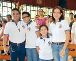 Una Familia Misionera: Alejandro,  Alejandro Marcelo, Rafaél y Carol Fúnez.