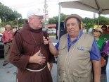 Monseñor Miguel resaltó la importancia dela pesca para el sustento de algunas familias.