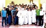 Seminaristas mayores de la Diócesis de San Pedro Sula.
