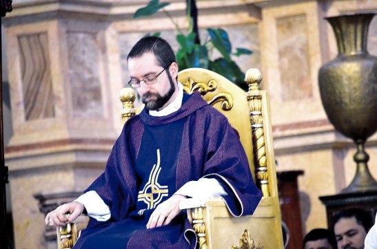 El padre Fredrik Hansen,  Encargado de Negocios ad interim de la Nunciatura Apostólica en Honduras.