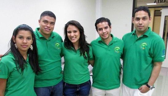 Parte de la delegación hondureña que está viviendo este encuentro latinoamericano.