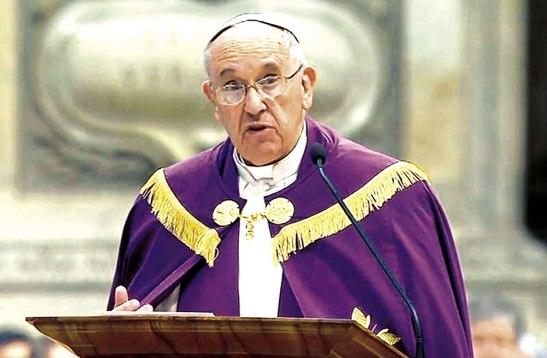 Francisco al momento de anunciar la realización del Años Santo de la Misericordia