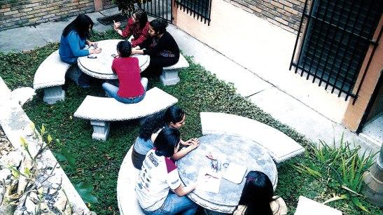 Formaciones en la Casa de las Misiones Villadela Comayagüela.