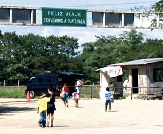 Hasta la frontera con Guatemala llegan muchos compatriotas deportados.