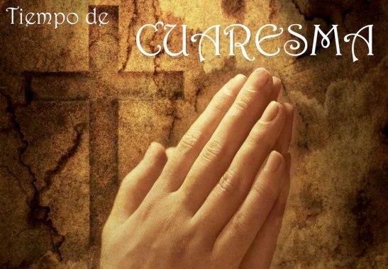Aprovechar estos día para orar, para platicar con Dios una parte muy fundamental en este tiempo de Cuaresma.