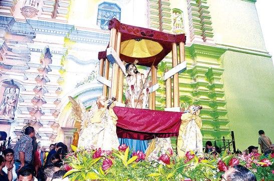 EL Anda con el Señor de la Humildad, en la Catedral Metropolitana.