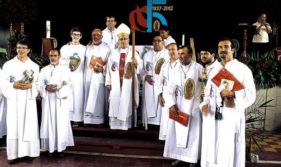 Participó en la misión de los 75 años de la Parroquia Nuestra Señora de Guadalupe en La Lima.