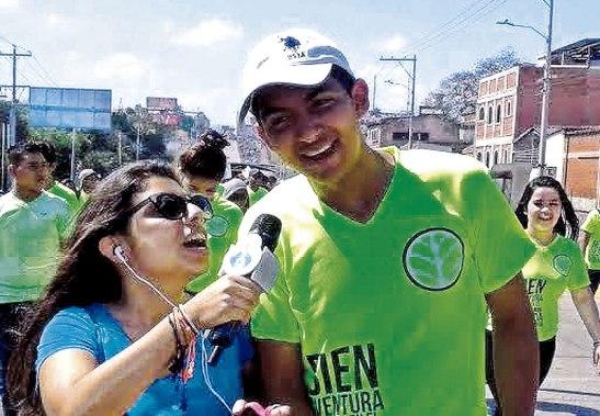Jony Murillo participando en la Jornada Juvenil de Ramos 2015.