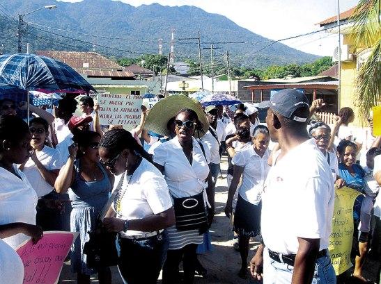 La comunidad Garífuna también alzó la voz.