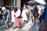 El via crucis personificado por los internos del penal,  despertó esperanza en el recinto.