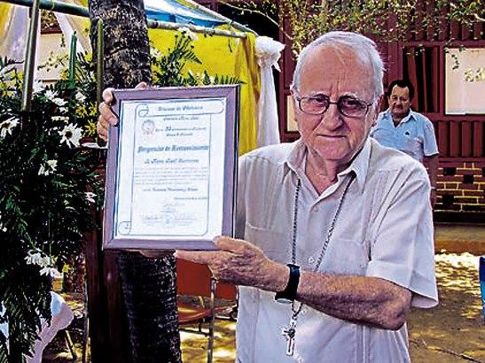 Monseñor Raúl Corriveau, Obispo Emérito de Choluteca.