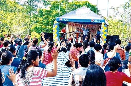 Un ambiente lleno de alegría se vivió en el XXVIII festival mariano.