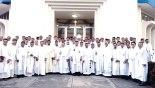 En la Parroquia Guadalupe celebró la eucaristía el obispo Hector David García junto a los sacerdotes.