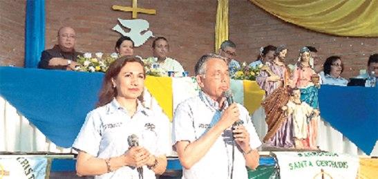 Los presidentes latinoamericanos dieron su mensaje a las familias que representaron al MFC de todo el departamento.