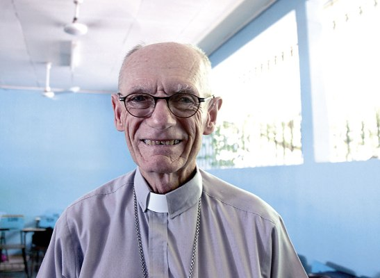 Monseñor Guido Charbonneau, Obispo de la Diócesis de Choluteca.