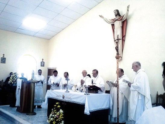 La misa fue presidida por Monseñor Ángel Garachana, concelebraron                              los obispos Miguel Lenihan, José Bonello y Roberto Camilleri.