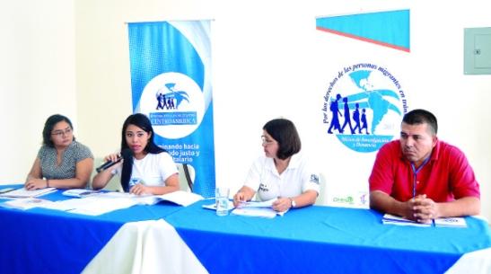 Representantes de las organizaciones que forman la misión regional.