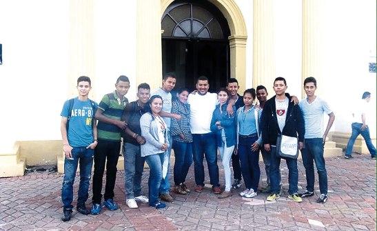 Jovenes Misioneros presentes en la jornada nacional de la juventud en Comayagua.