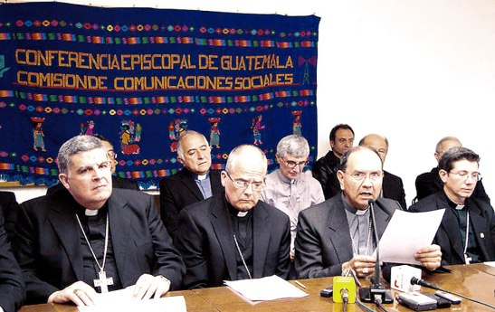 Monseñor Rdolfo Valenzuela Núñez presidente de la Conferencia  Episcopal de Guatemala.