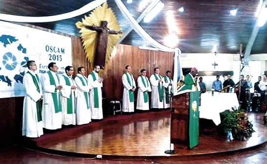 En las Eucaristías realizadas esta semana estuvo presente Monseñor NovatusRugambwa, Nuncio Apostólico en Honduras,