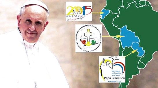 Con sus homilías y discursos durante su reciente estadía en Bolivia, Ecuador y Paraguay, el Papa Francisco ha invitado a transmitir el Evangelio con hechos.