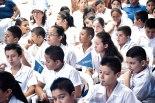 Parte de los pequeños que participaron en el evento.