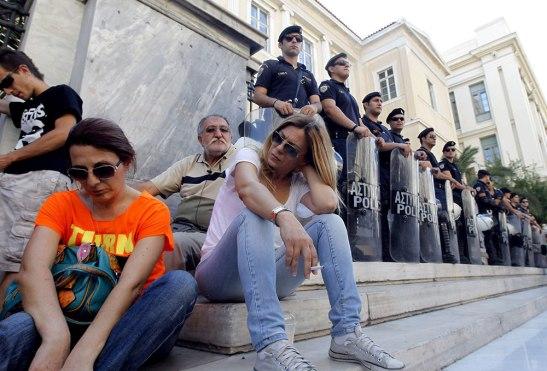 La situación que se vive en Grecia es muy difícil.