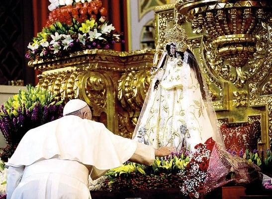 El Papa Francisco, pronunció una oración especial a La Virgen del Quinche.