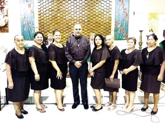 Nuevos laicos de la Orden Franciscana Seglar en San Pedro Sula.