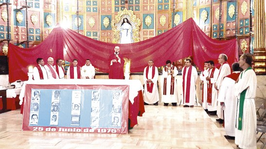 La Eucaristía tiempo propicio para mantener viva la memoria de los que aman a Dios y luchan por la Justicia Social.
