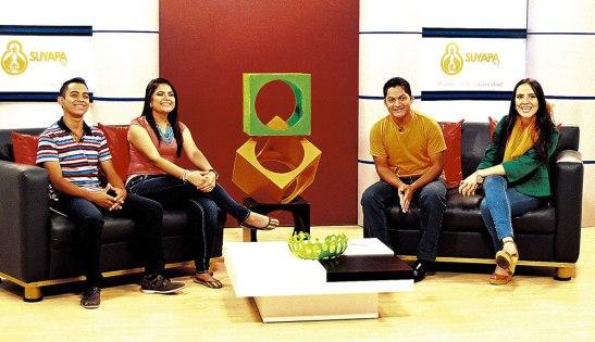 Josué Tabora, Alicia Ramos, Samuel Mendoza y Daniela Mejía son los nuevos presentadores del programa.