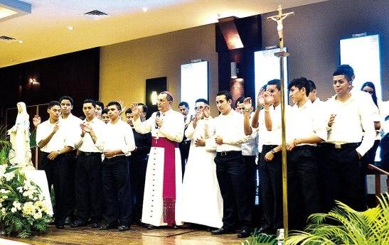 Seminaristas menores de la Diócesis de San Pedro Sula.