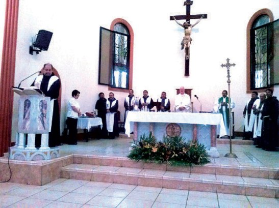 Fray Edwin Alvarado OFM Provincial de la región Centroamerica y Haiti compartió algunas palabras.