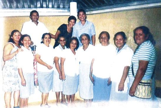 Parte del grupo de las Legionarias de María que este mes arribaron a su 57 aniversario de fundación.