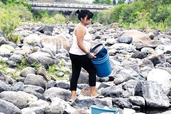 Sin agua han quedado los ríos de algunos municipios afectados.