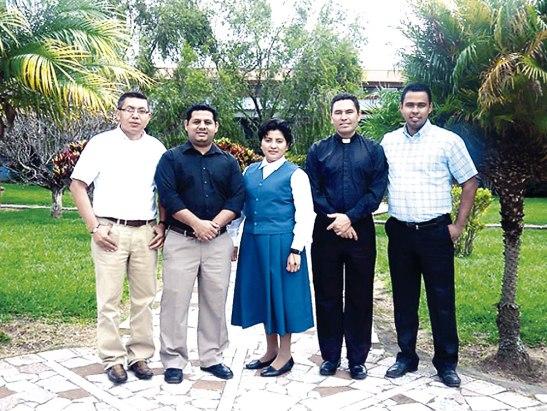 Los delegados de Honduras al Diplomado de Pastoral Catequética.