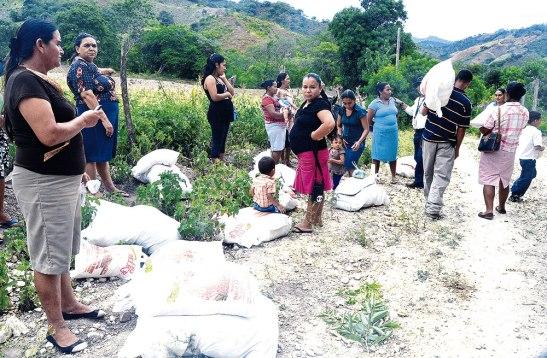 En la comunidad de Matazano, las personas quedaron satisfechas con la ayuda.
