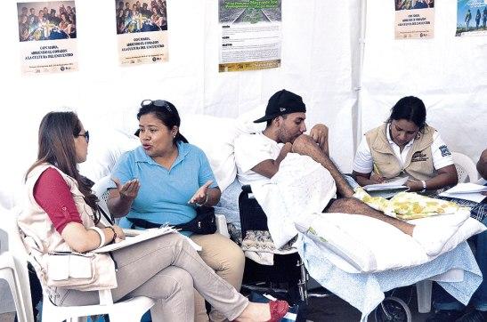 Como parte del Festival la actividad consistió en brindar ayuda a los deportados que han regresado con algún problema.