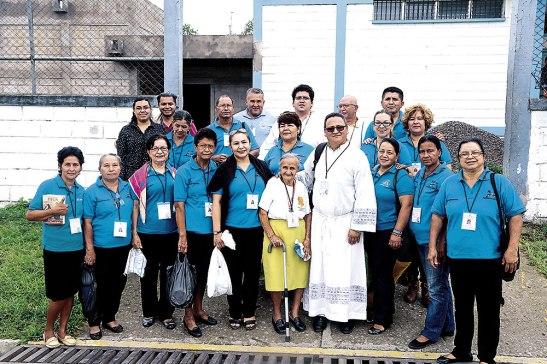 Parte de la Pastoral Penitenciaría que visita regularmente a los                                   privados de libertad en Támara.